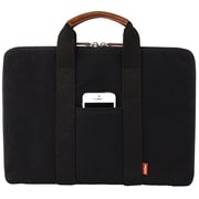 Toffee® 13 Bleecker Brief Leather Carrying Case, Black