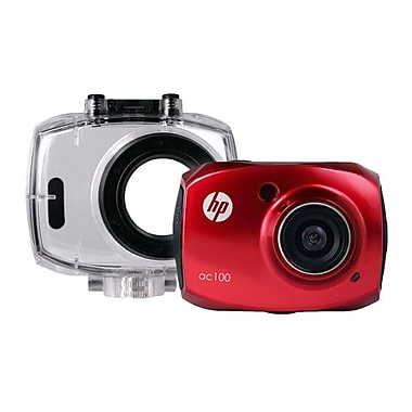HP® Full HD Action Waterproof Camcorder With 2.4in. LCD Screen, Red