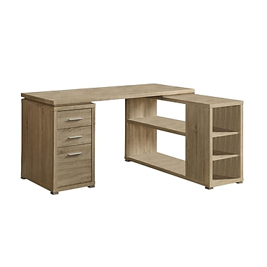 Monarch Reclaimed-Look Left/Right Facing Corner Desk, Natural