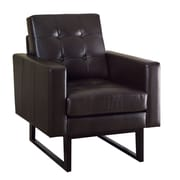 Monarch Match Bonded Leather  Arm Chair Brown