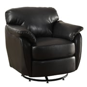 Monarch Specialties Inc. Leather Lounge Chair, Black (I 8064)
