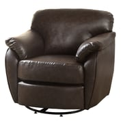 Monarch Swivel Rubber Wood Accent Chairs Dark Brown