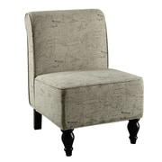 Monarch Specialties Inc. Fabric Slipper Chair, Vintage French (I 8123)