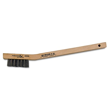 Anchor Brand® Curved Wood Handle SS Bristle Standard Stapled Fill Utility Brush