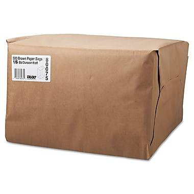 Boardwalk® Kraft Paper Bag, 52 lb, 17
