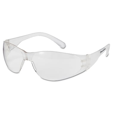 MCR Safety® Checklite Crew Safety Glasses, Uncoated, Clear, 12/Box