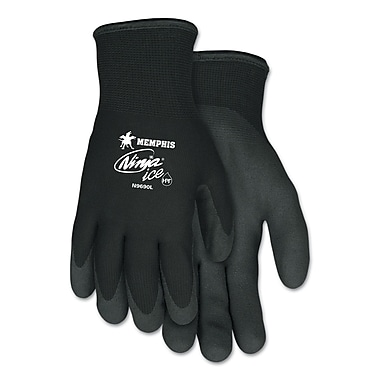 Memphis™ Crews Ninja® Ice Acrylic Terry Lining HPT Coated Gloves, Black, Small