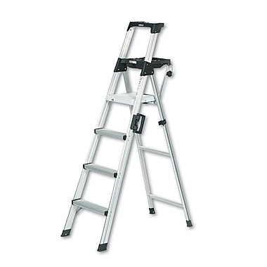 Cosco Products Cosco 6 foot Signature Series Step Ladder Type 1A, ALUMINUM/BLACK