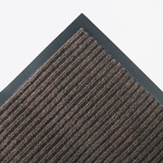 "Crown Needle Rib Wipe Synthetic Scraper Mat 72"" x 48"", Brown"
