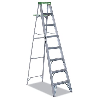 Louisville Folding Aluminum Step Ladder 8 Foot