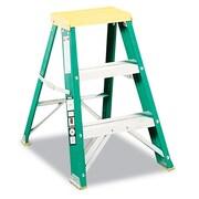 Louisville Folding Fiberglass Locking Two-Step Stool Yellow