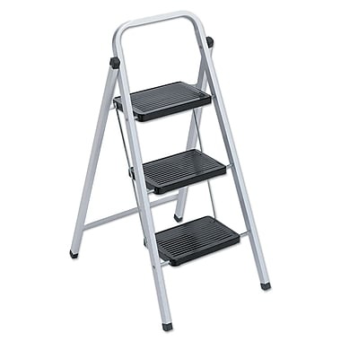Louisville  Ladder Qwik Step Stool, 34 Inch, 200 Pound Duty Rating LADDER,3-STEP STOOL,WH