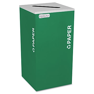 Ex-Cell Kaleidoscope Collection Recycling Receptacle Emerald Green