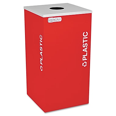 Ex-Cell Kaleidoscope Collection Recycling Receptacle Ruby Red