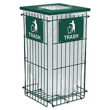 Ex-Cell Clean Grid Fully Collapsible Waste Receptacle Hunter Green