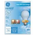 53 Watt GE reveal Halogen A19 Light Bulb, Soft White, 2/Pack