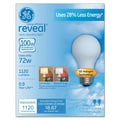 72 Watt GE reveal Halogen A19 Light Bulb, Soft White, 2/Pack
