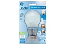 20 Watt GE reveal® Bright from the Start™ A19 CFL, Soft White