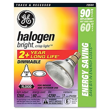 GE 5in. x 6in. Halogen Light Bulbs-Halogen 60 Watt