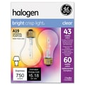 GE 4.43in. x 2.3in. Glass Halogen Bulb 43-Watt