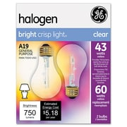 "GE 4.43"" x 2.3"" Glass Halogen Bulb 43-Watt"