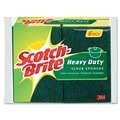 Scotch-Brite Heavy-Duty Scrub Sponge, Yellow/Green, 4 1/2in.(W) x 2 7/10in.(L) x 3/5in.(T)