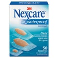 Nexcare 43250 Waterproof Adhesive Bandage 50/Pack, Clear