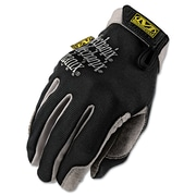 Mechanix Wear® High Dexterity Utility Gloves, Spandex/Synthetic, Hook & Loop Cuff, L Size, Black