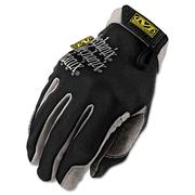 Mechanix Wear® High Dexterity Utility Gloves, Spandex/Synthetic, Hook & Loop Cuff, L Size, Black