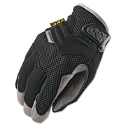 Mechanix Wear® Padded Palm Gloves, Spandex/Synthetic, Hook & Loop Cuff, M Size, Black