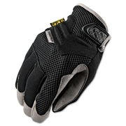 Mechanix Wear® Padded Palm Gloves, Spandex/Synthetic, Hook & Loop Cuff, L Size, Black