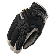 Mechanix Wear® Padded Palm Gloves, Spandex/Synthetic, Hook & Loop Cuff, XL Size, Black