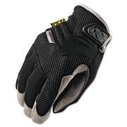 Mechanix Wear® Padded Palm Gloves, Spandex/Synthetic, Hook & Loop Cuff, XL Size, Black