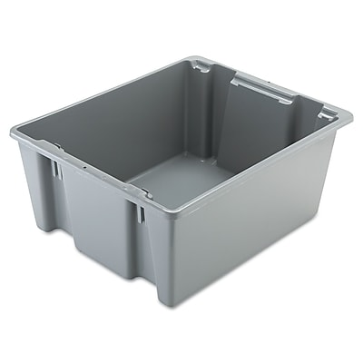 Rubbermaid Commercial Palletote Box, Gray, 19 gal RCP1731GRA