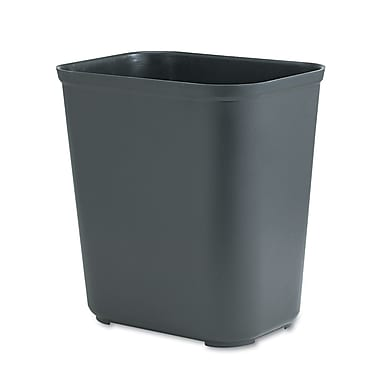 Rubbermaid 7 gal. Rubber Trash Can without Lid, Black