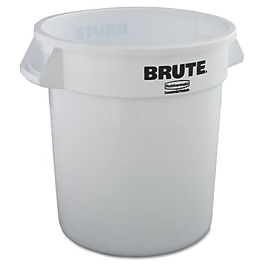 Rubbermaid® Commercial Brute® Container Without Lid, White, 10 gal