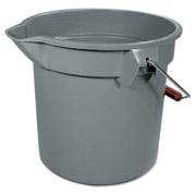 "Rubbermaid Commercial 14-Quart Round Utility Bucket 12"" Diameter x 11-1/4""h  Gray"