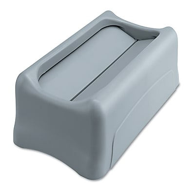 Rubbermaid Commercial Slim Jim Swing Lid For Slim Jim Containers, Gray RCP267360GY