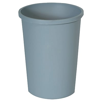Rubbermaid Untouchable Round Container, Gray, 11 gal RCP2947GRA