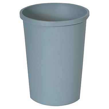 Rubbermaid® Untouchable® Round Container, Gray, 11 gal