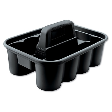 Rubbermaid Commercial 1.32in. H x 0.95in. W x 1.29in. D Plastic Caddy Bags Black