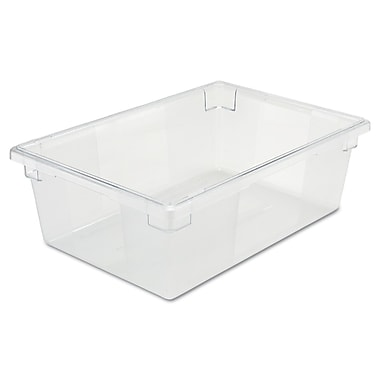 Rubbermaid® 3300 Food/Tote Box, 12 1/2 gal, 26in.(L) x 18in.(W) x 9in.(D), Clear