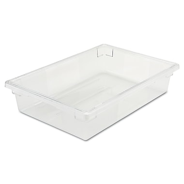 Rubbermaid® 3308 Food/Tote Box, 8 1/2 gal, 26in.(L) x 18in.(W) x 6in.(D), Clear