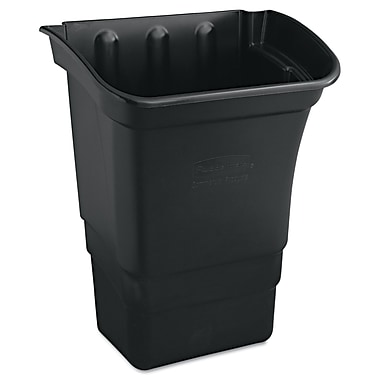 Rubbermaid® Commercial Refuse Bin, Black, 8 gal