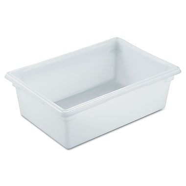 Rubbermaid® 3500 Food/Tote Box, 12 1/2 gal, 26in.(L) x 18in.(W) x 9in.(D), White