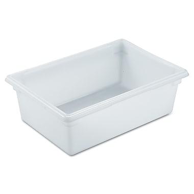 Rubbermaid® 3500 Food/Tote Box, 12 1/2 gal, 26in.(L) x 18in.(W) x 9in.(D), White