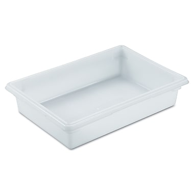 Rubbermaid® 3508 Food/Tote Box, 8 1/2 gal, 26in.(L) x 18in.(W) x 6in.(D), White