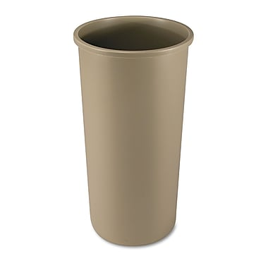 Rubbermaid® Commercial Untouchable® Round Container, Beige, 22 gal