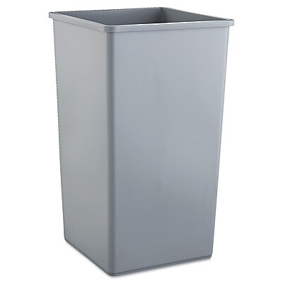 Rubbermaid Commercial Untouchable Square Container, Gray, 50 gal RCP3959GRA