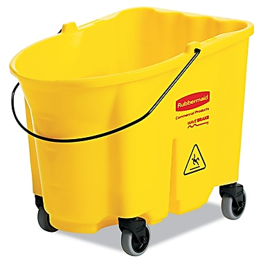 Rubbermaid Commercial Wavebrake Basket with Caster Yellow